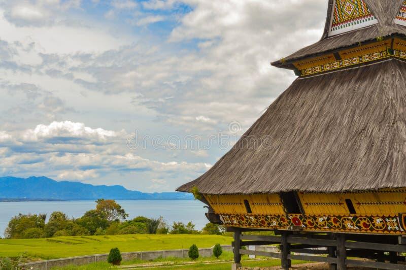 lago de Toba del paisaje imágenes de archivo libres de regalías