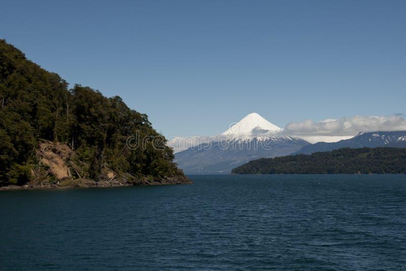 Download Lago De Todos Los Santos With Snowy Volcano Stock Photo - Image: 67655612