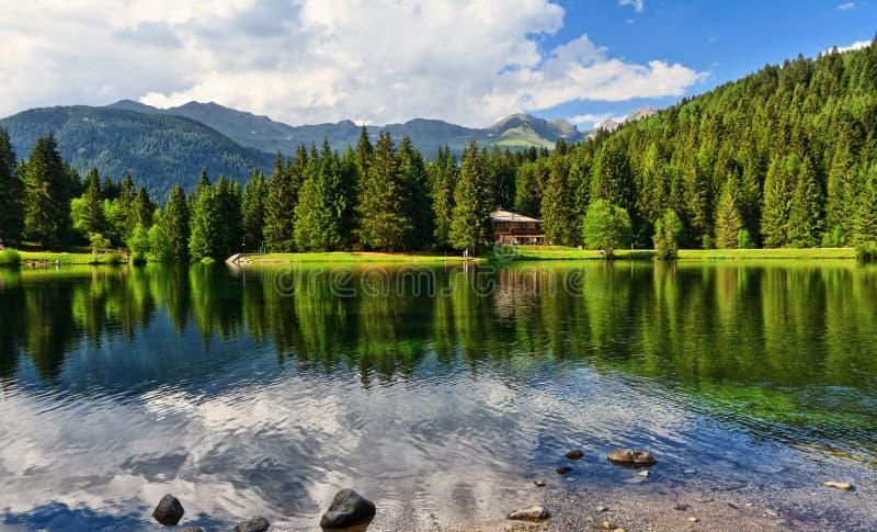 Lago dei Caprioli - rådjur sjö royaltyfri bild