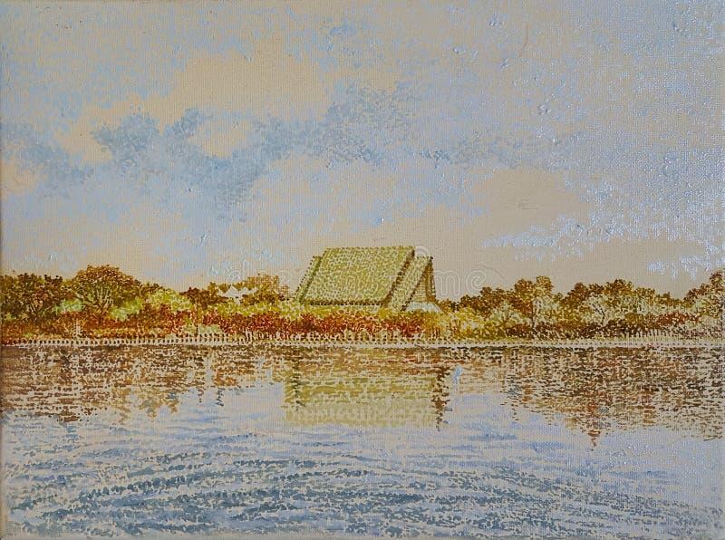 Lago del azul de Tailandia stock de ilustración
