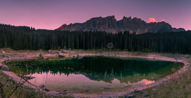 Lago del carezza fotografia stock