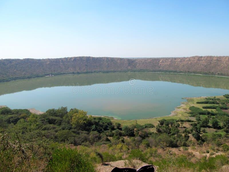 Lago del cratere di Lonar immagine stock libera da diritti