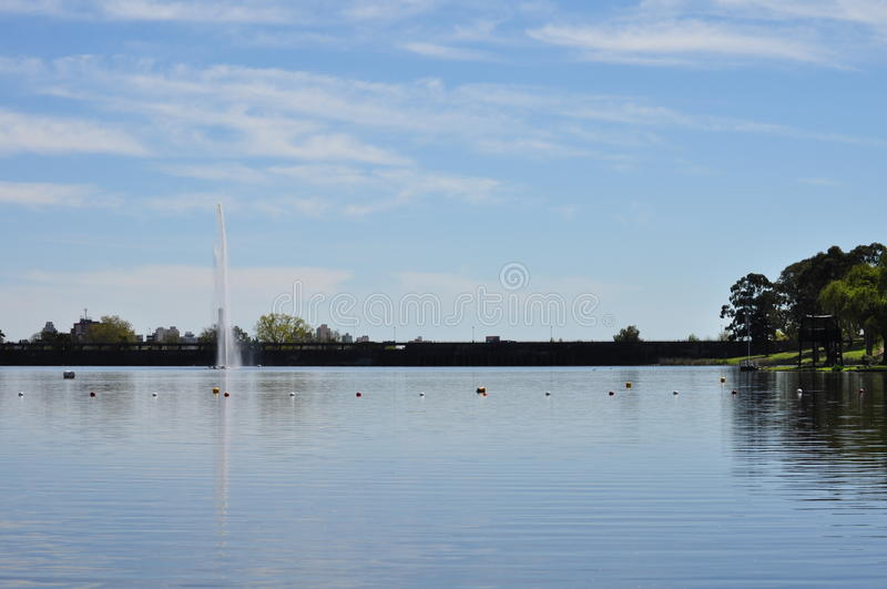 Lago del Fuerte in Tandil royalty free stock images