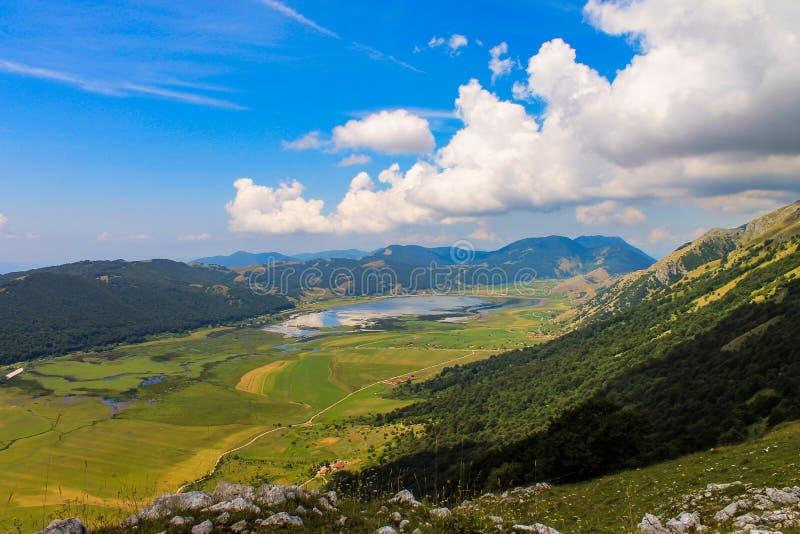 Lago del Matese fotografia stock libera da diritti