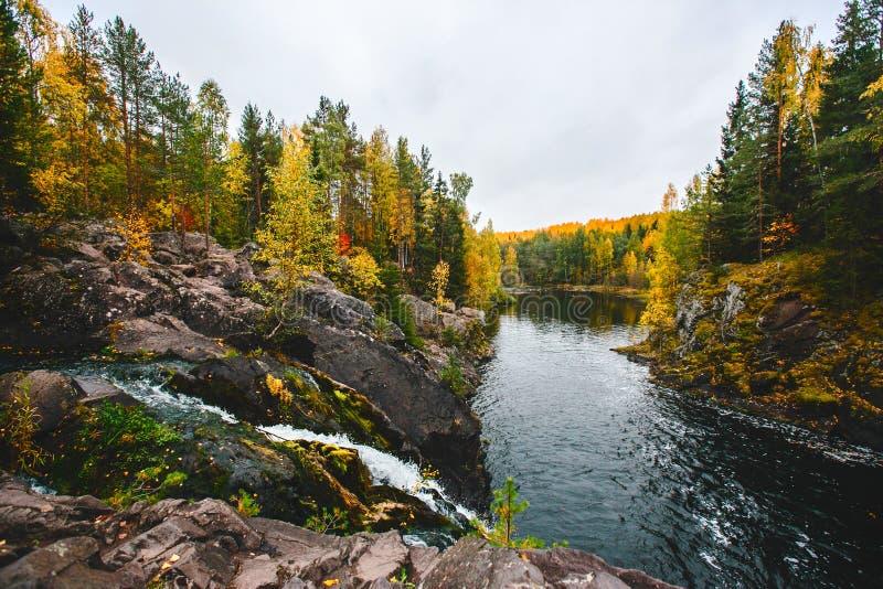 Lago del nord in Carelia fotografie stock libere da diritti