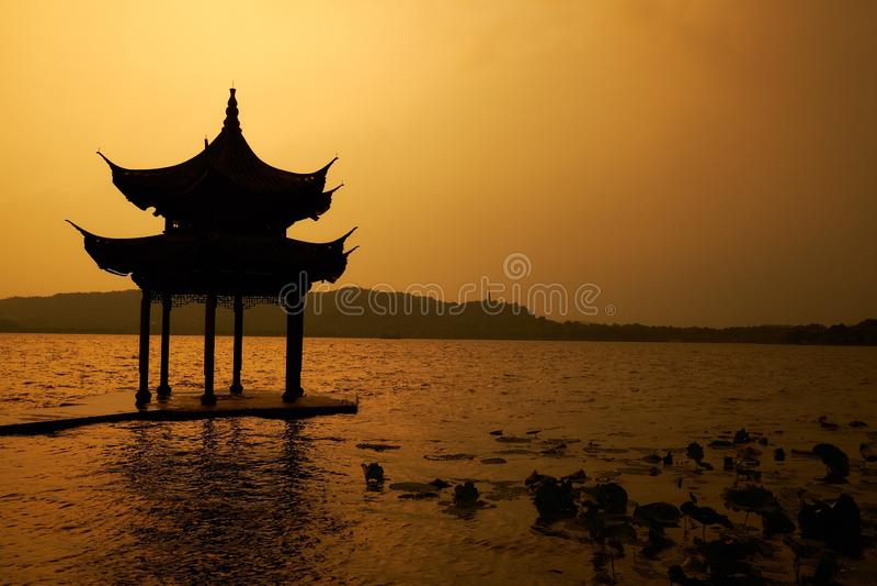 Lago del oeste de visita turístico de excursión hangzhou foto de archivo