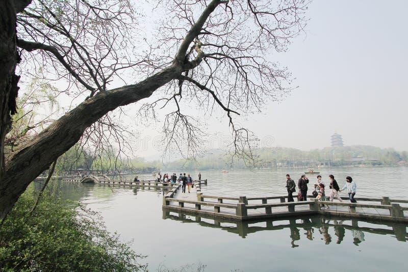 Lago del oeste en Hangzhou, China imagen de archivo libre de regalías