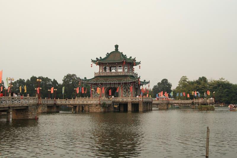 Lago del oeste Jieyang fotografía de archivo
