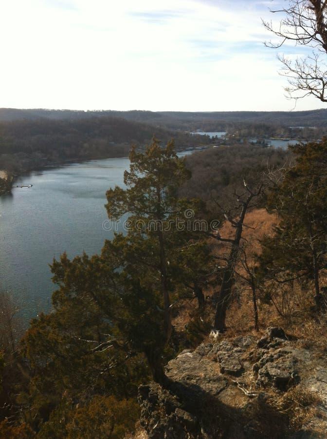 Lago del parque de estado de Ozarks ha ha Tonka imagen de archivo