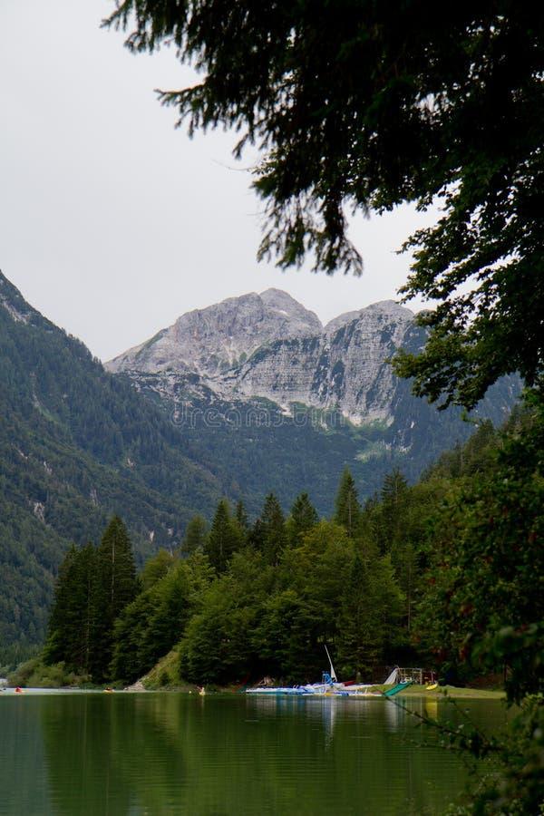 Lago del Predil fotografia stock
