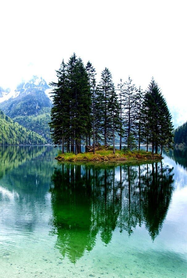 Lago Del Predil, Italien stockbild