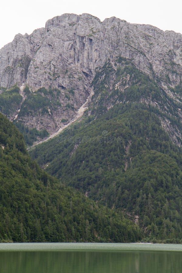 Lago del Predil in Italy stock photos