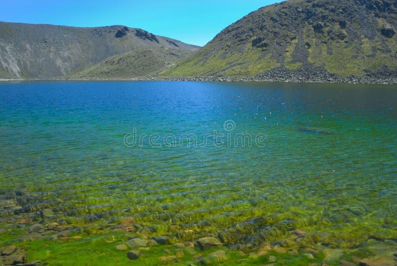 Lago del Sol en el volc?n de Nevado de Toluca m?xico imagen de archivo libre de regalías
