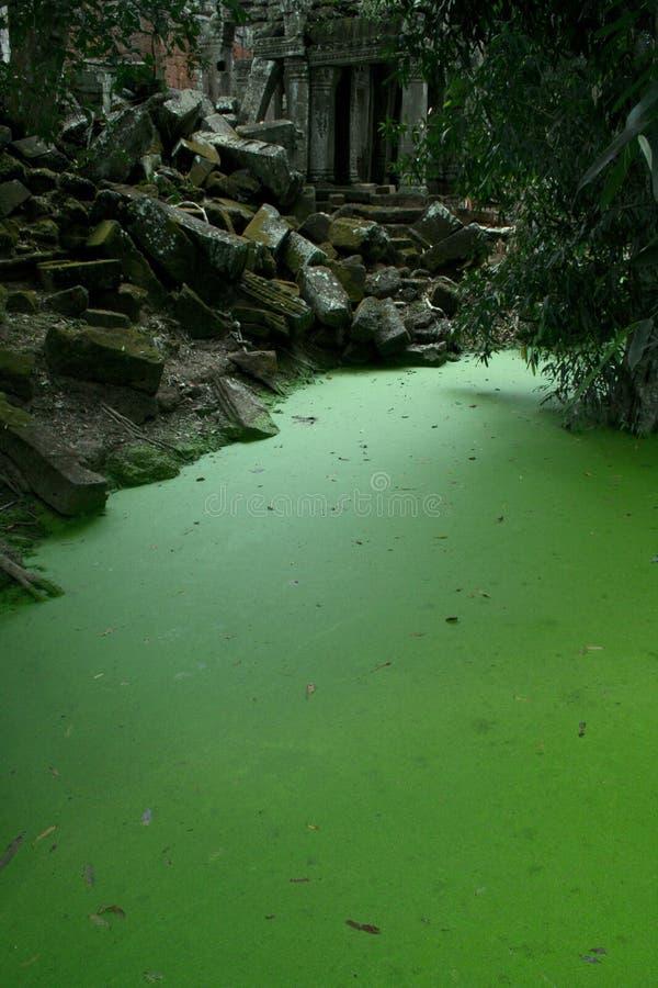 Lago del templo de TA Prohm imagenes de archivo