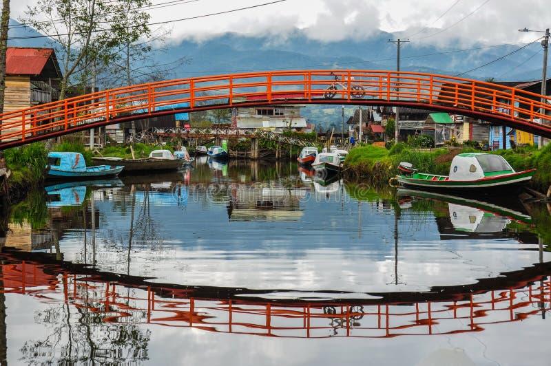 Lago delicato & variopinto de Tota, Colombia fotografia stock