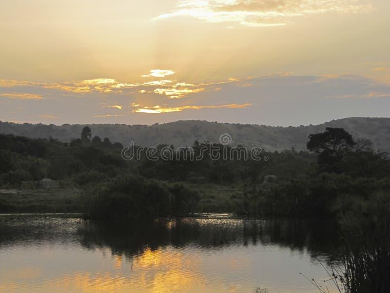 Lago dell'Africano del paesaggio immagine stock