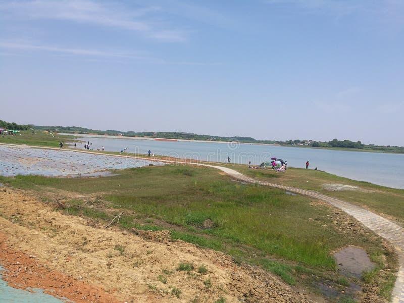 Lago della città della Cina a Wuhan fotografia stock libera da diritti