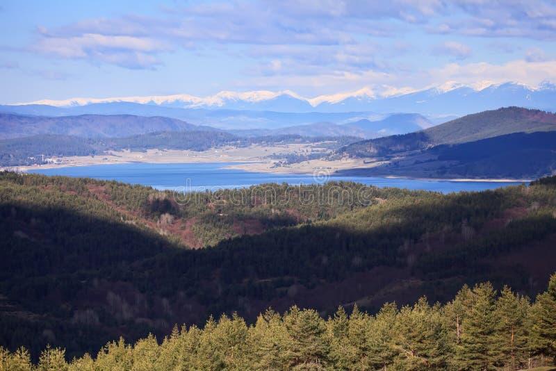 Lago della diga di Batak, vista alta immagine stock libera da diritti