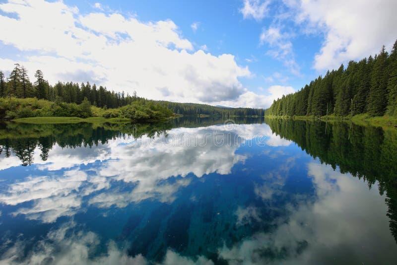 Lago desobstruído, Oregon imagem de stock