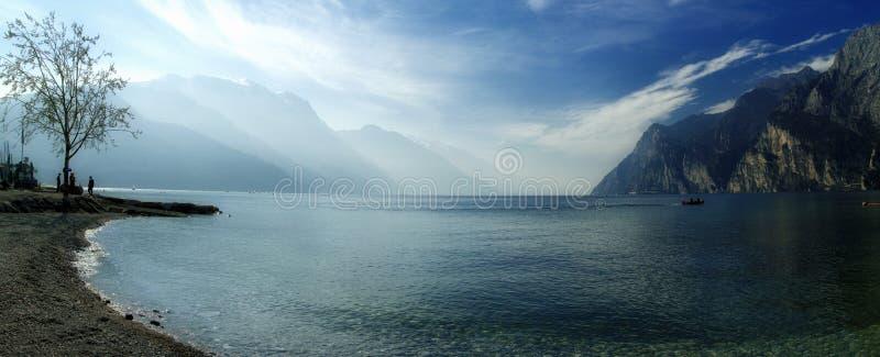 Lago Di加尔达,意大利 免版税库存图片