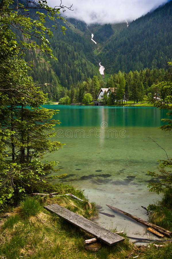 Lago di Anterselva foto de stock royalty free