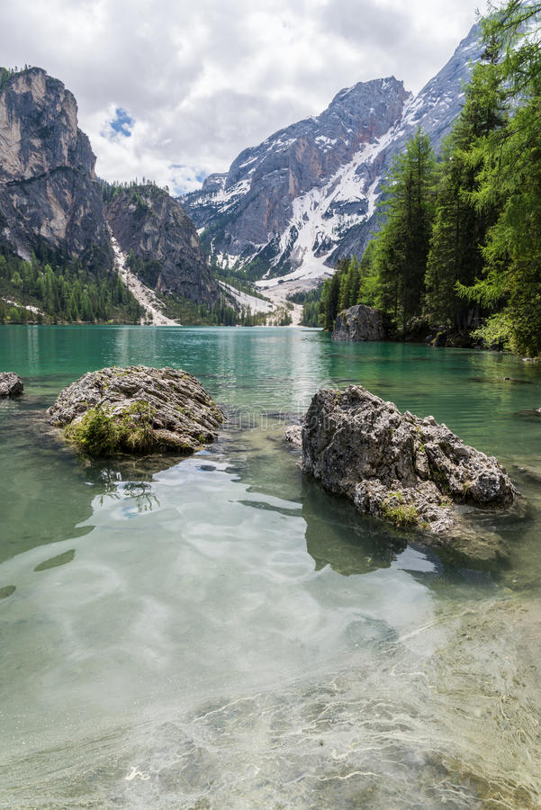 Lago Di Braies royalty-vrije stock foto's