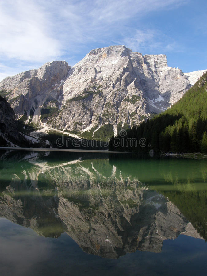 Lago Di Braies Royalty Free Stock Photography