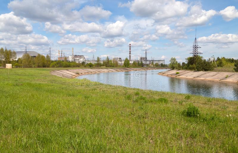 Lago di Chernobyl fotografie stock libere da diritti