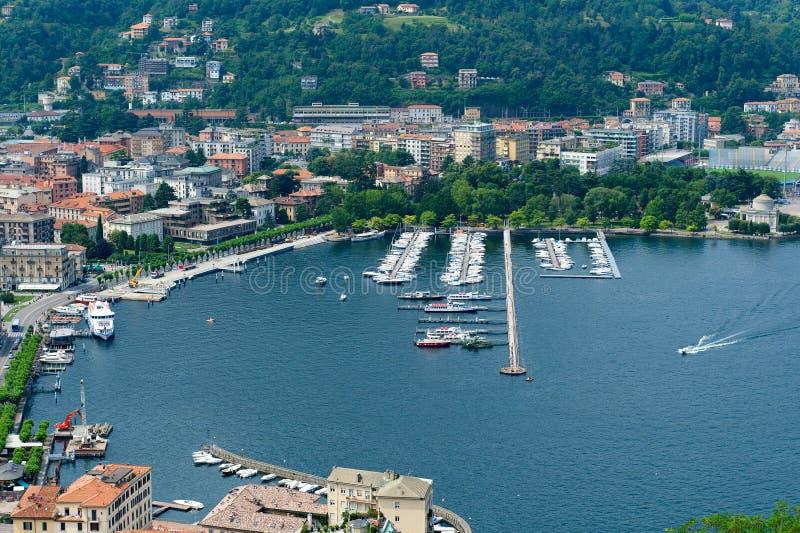 Lago di Como fotografie stock