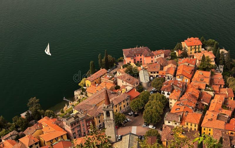 Lago Di Como kustlijn. royalty-vrije stock foto's