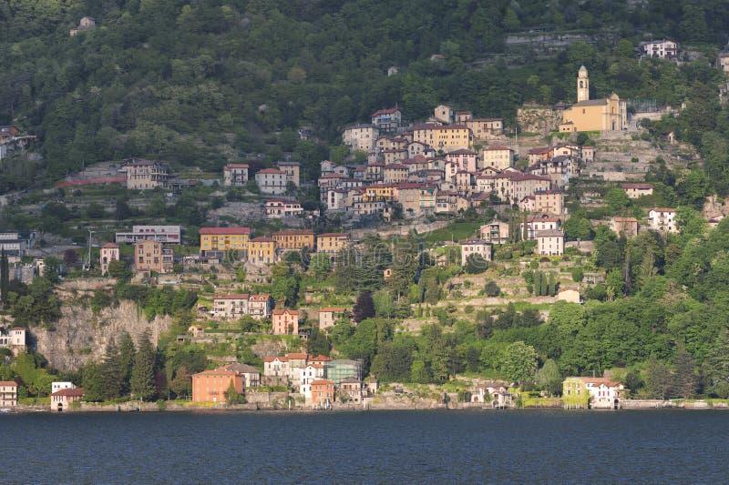 Lago di Como a Pognana Lario immagine stock