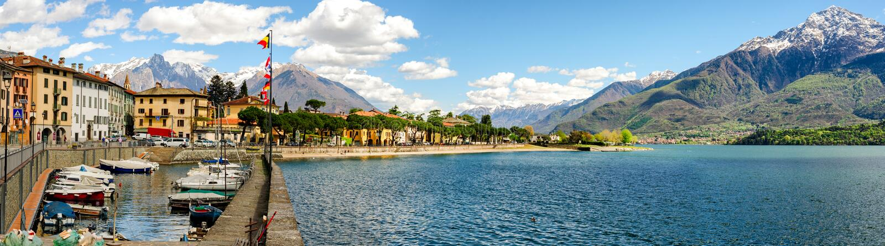 Lago di Como (sjön Como) Domaso royaltyfri bild
