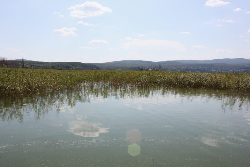 Lago di Doirani Kilkis Grecia immagine stock libera da diritti
