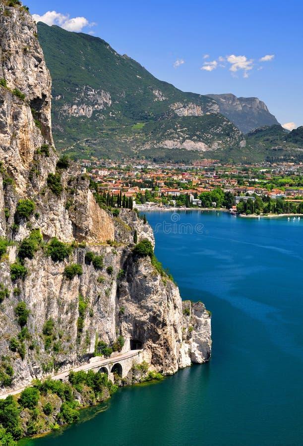 Download Lago di Garda stock photo. Image of sailboat, lights - 25753774