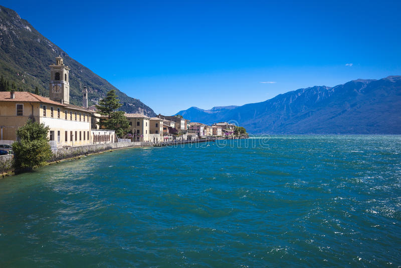 Lago di Garda Gargnano immagini stock libere da diritti