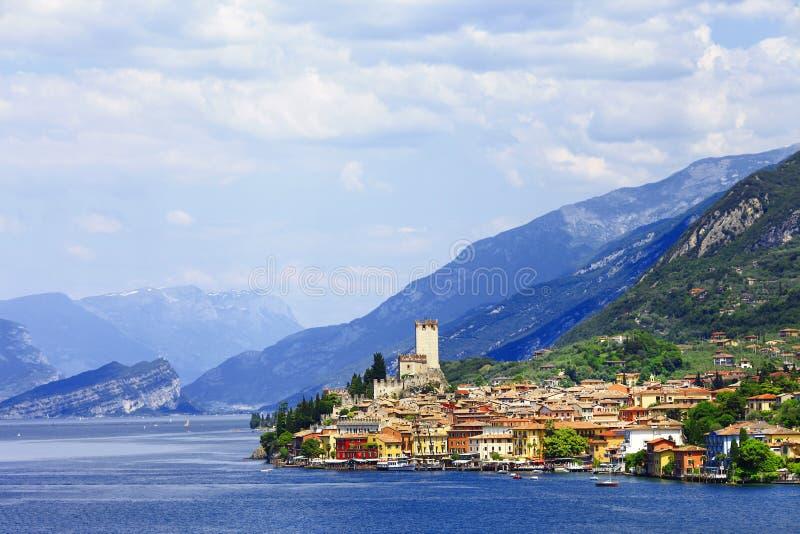 Lago Di Garda, Malcesine obraz stock