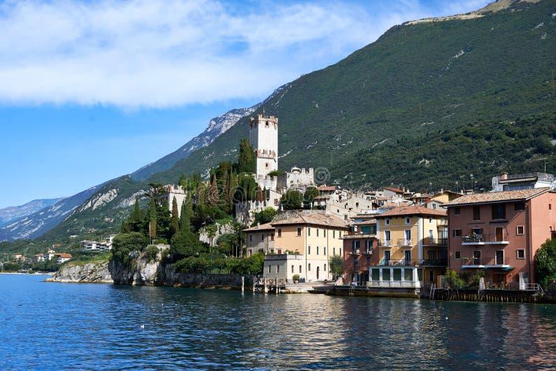 Lago di Garda, Malcesine, Italien arkivfoto