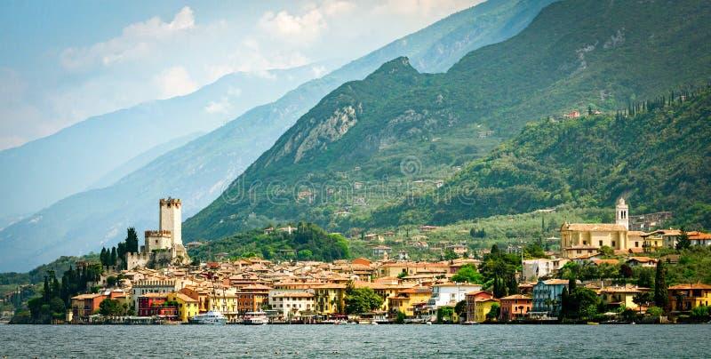 Lago di Garda Malcesine. (Italy stock photography