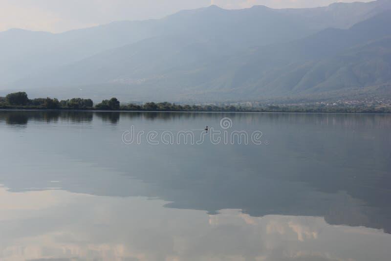 Lago di Kerkini Serres Grecia immagine stock