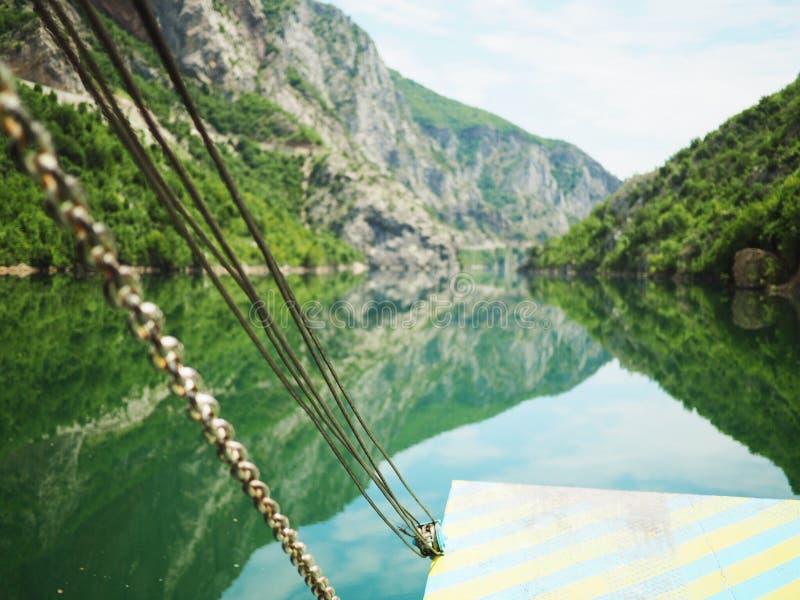 Lago di koman del traghetto fotografia stock