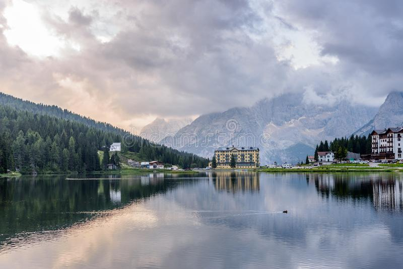 Lago Di Misurina fotografia royalty free