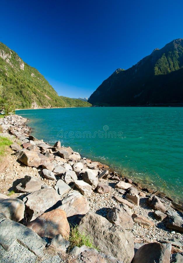 Lago di poschiavo fotografia de stock