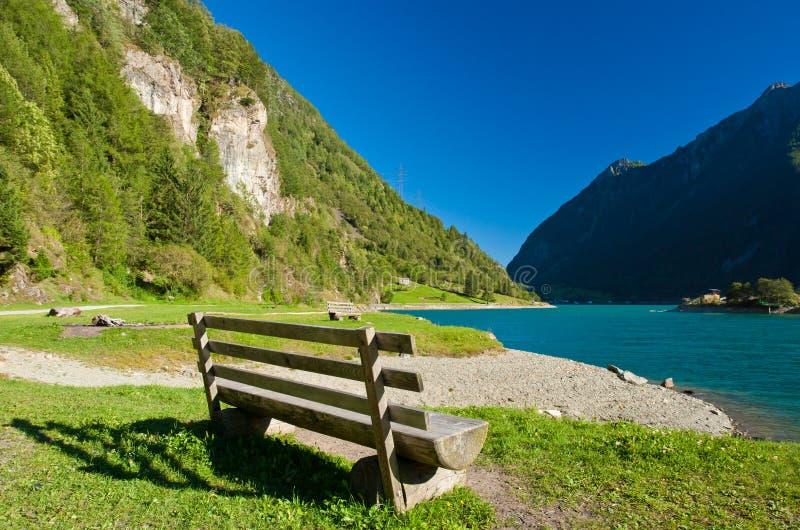 Lago di poschiavo fotografia de stock royalty free