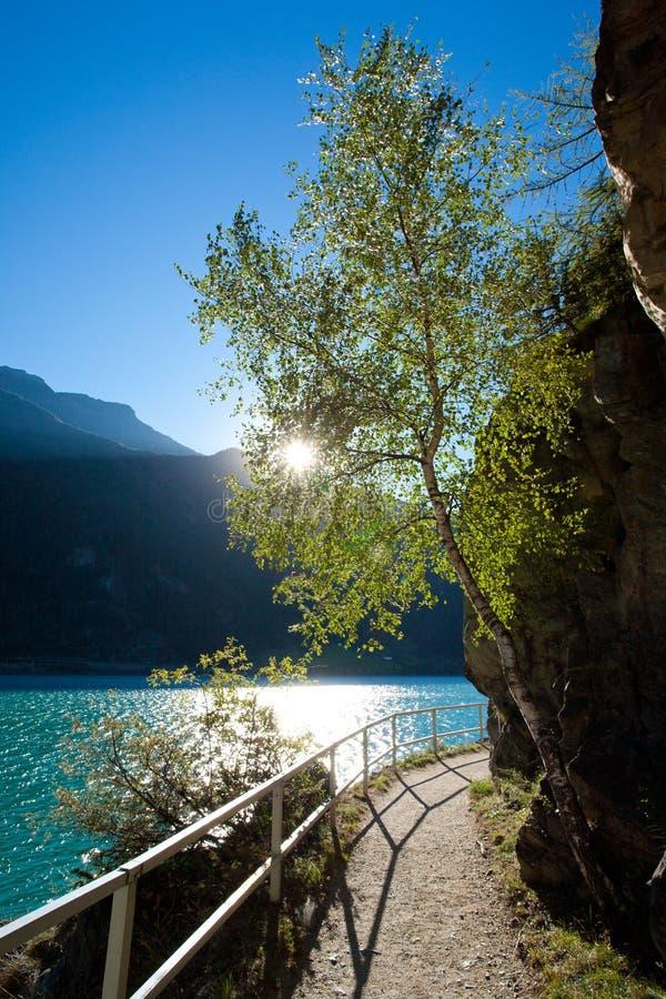 Lago di poschiavo imagem de stock royalty free