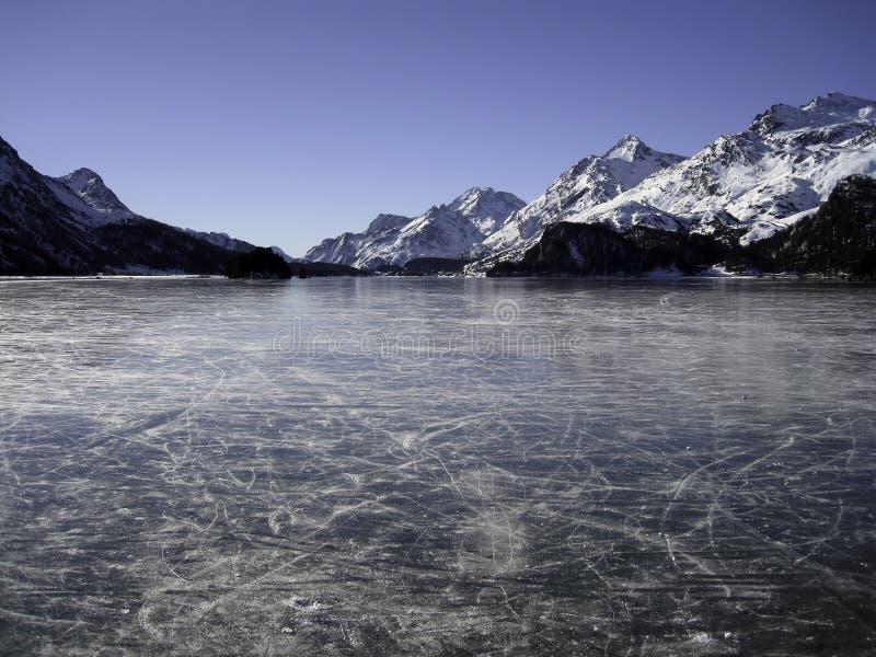 Lago di Silvaplana immagini stock libere da diritti