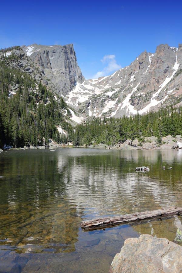 Lago di sogno, Rocky Mountains immagini stock