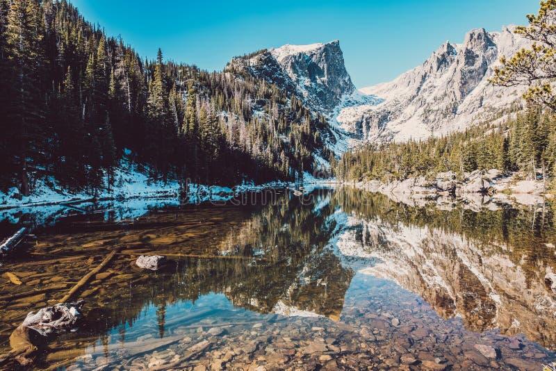 Lago di sogno, Rocky Mountains, Colorado, U.S.A. fotografia stock libera da diritti