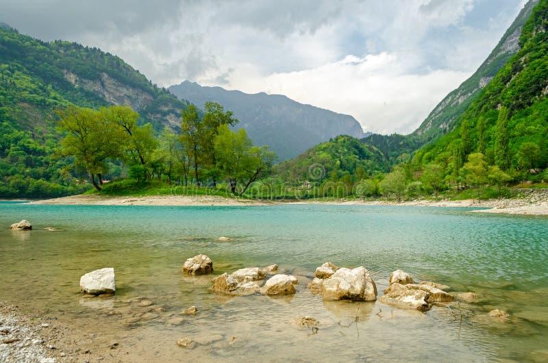 Lago Di Tenno Trentino, Włochy (,) fotografia royalty free