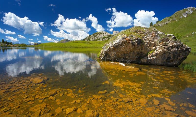 Lago Di Valparola, dolomity, Włochy fotografia stock