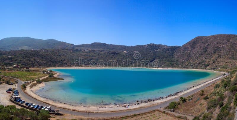 lago di Venere, Pantelleria 库存图片